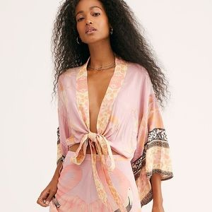 Spell & The Gypsy Cherry Blossom Tie Top Pink XS